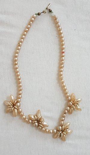 hals Kette Perlen länge 39 cm Vintage