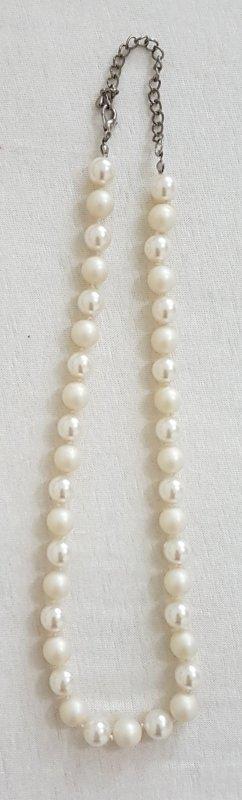 Hals Kette perlen länge 45