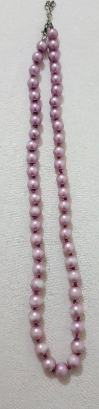 Hals Kette Perlen länge 45 cm Vintage