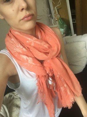 Kerchief orange-silver-colored