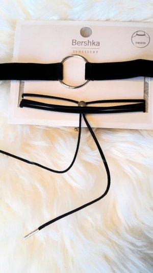 Halsband  Choker  Cropfband  Kette        neu mit Etikett          schwarz gold     von Bershka