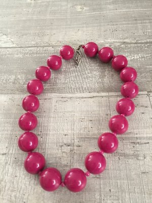 Pearl Necklace purple synthetic material