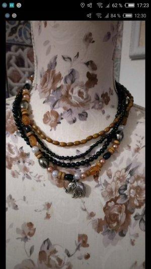 Collar negro-marrón