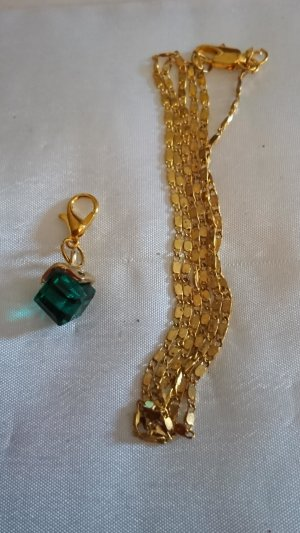 Collar estilo collier color oro-verde bosque