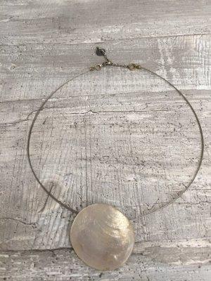 Culture Necklace silver-colored-white