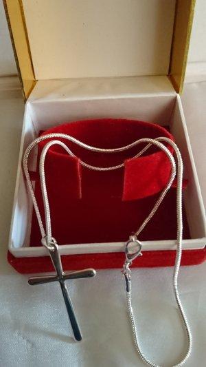 Halskette 925 mit Anhänger Kreuz