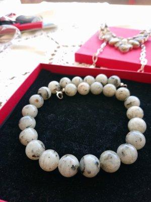 Halskette Achat Steine 925 Silber