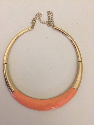 Halskette apricotfarben, Statementkette
