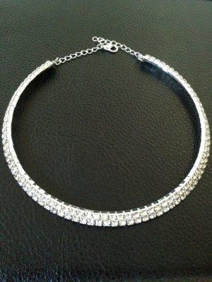 Halskette aus Strass-Steine – Strass Schmuck – sehr edel