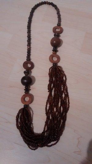Collar marrón madera