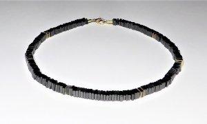 Halskette, Collier, Hämatit-Perlenkette