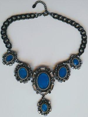 Halskette Collier mit blauen Steinen