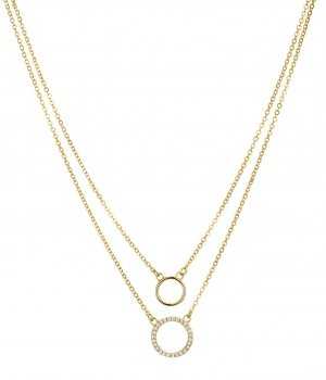 "Halskette ""Double Chain&Circle"""