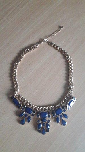 Halskette Gold / Blau