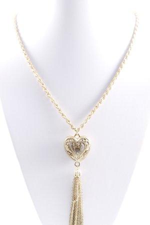 Collar color oro estilo romántico