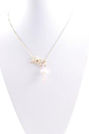 Halskette goldfarben-rosa Romantik-Look