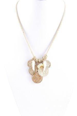 Halskette goldfarben-weiß Boho-Look