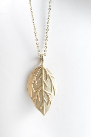 Necklace gold-colored-white minimalist style