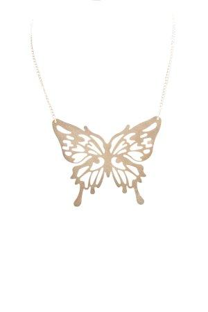 Necklace gold orange elegant