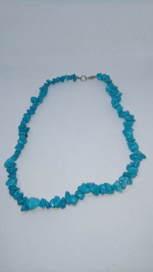 Ketting lichtgrijs-babyblauw