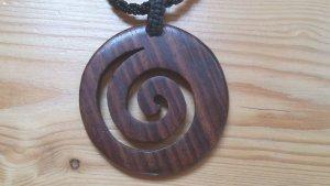 Halskette Harmonie mit hölzerner Spirale Top Zustand!