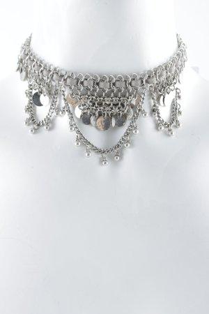 Halskette hellgrau-silberfarben Antik-Look