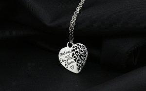 Halskette Herz Mutter & Tochter für immer – Partnerschmuck Liebe Freundschaft