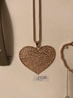 Halskette Herz Rosegold Lizas
