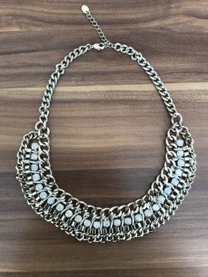 Halskette in Gold mit Türkis