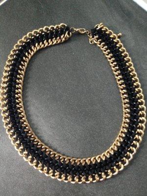 Halskette in gold schwarz