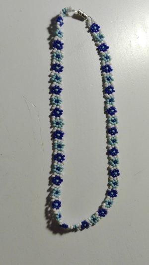Vintage Collar blanco-azul