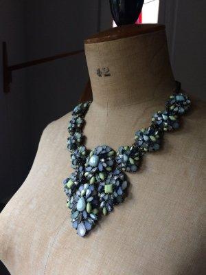 Zara Collier incrusté de pierres multicolore métal