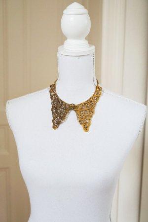 Halskette Kragen gold Metall Verschluss