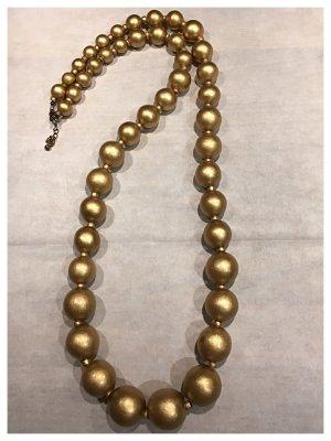 Halskette lang, sehr dekorativ, gold