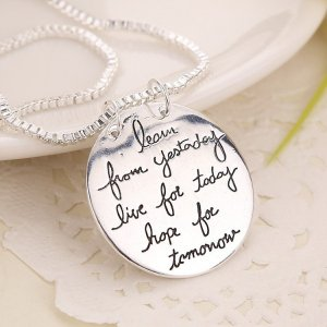 "Halskette ""live the life you love"" Kette mit Spruch"