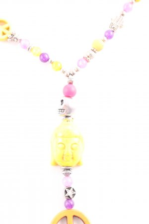Halskette mehrfarbig Hippie-Look