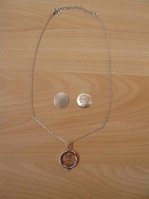 Halskette mit 3 Anhängern, Modeschmuck, LBVYR, neu