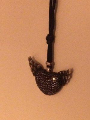 Thomas Sabo Necklace black-silver-colored real silver