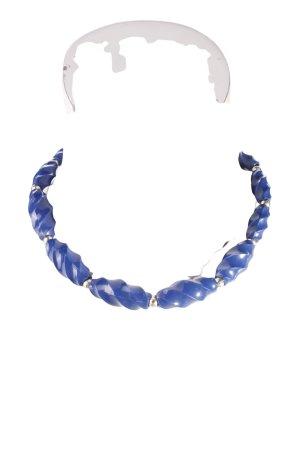 Collier bleu-argenté