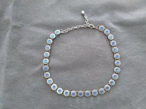 Collana argento-blu neon