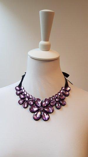 Necklace blue violet recycled material