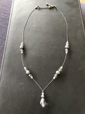 Halskette mit Glasperlen inkl. Armkette