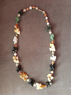 Halskette mit Halbedelsteinen, Handarbeit aus Italien, NEU