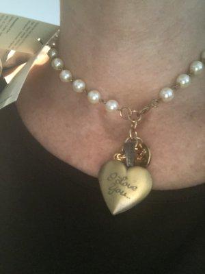 Halskette mit Herz zum öffnen neu mit edikett