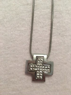 Halskette mit Kreuzanhänger mit Zirkoniasteinchen Von Esprit #
