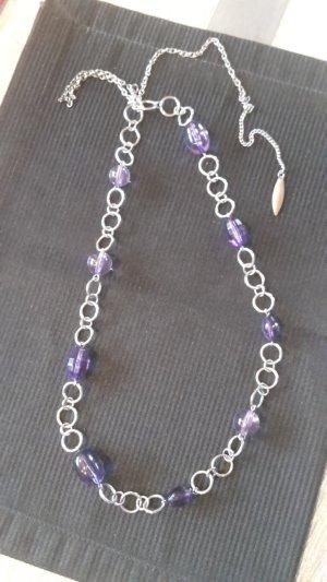 Chaîne à maillons argenté-violet