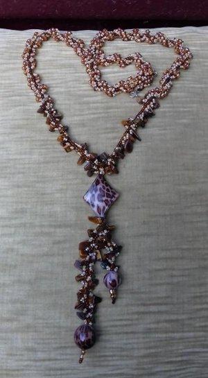 Halskette mit Tigeraugensteinchen