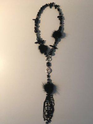 Collana nero-argento