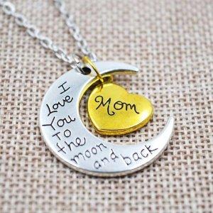 Halskette Mutter & Tochter Herz – ich liebe dich Anhänger