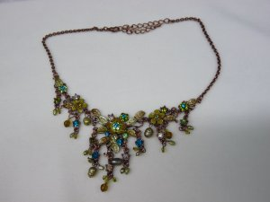 Collier Necklace green-light blue